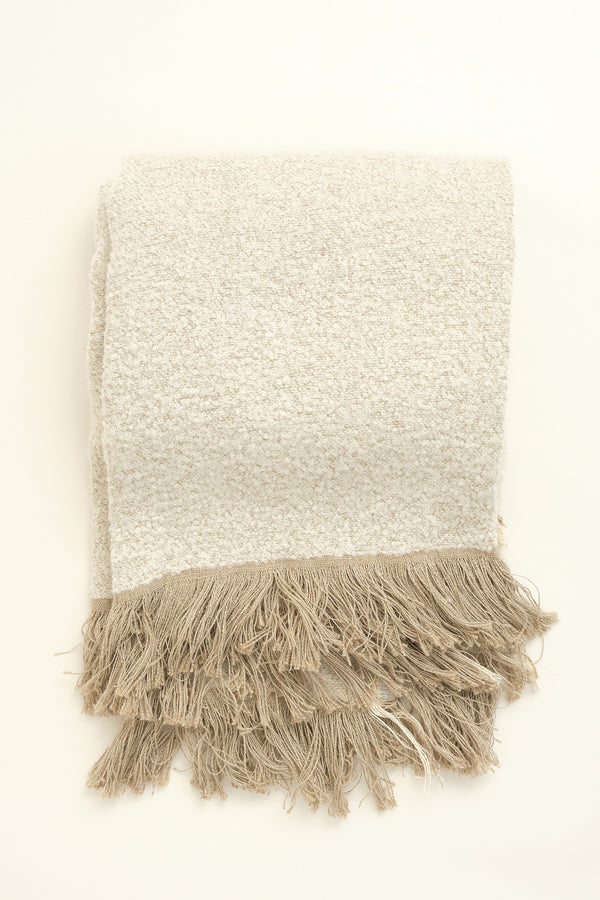 Uniq'uity winters throw blanket in white