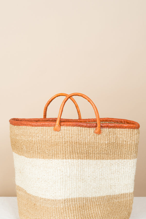 "Creative Women The Seasider 18"" White Sisal Basket"