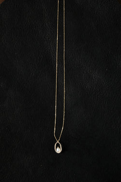 Pearl Droplet Hoop Necklace Wwake