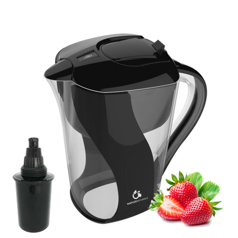 Naples Naturals 109 BLACK Alkaline Pitcher - Open/Damaged Box