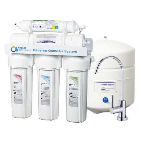 Naples Naturals RO55 5 Stage Reverse Osmosis Water Filtration System