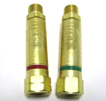 Flashback Arrestors - Set of Two, One Oxy & One Fuel Gas