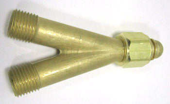 "Y Connector For Oxygen, Standard ""B"" Size Fittings"