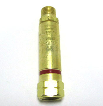 Single Fuel Gas Flashback Arrestor