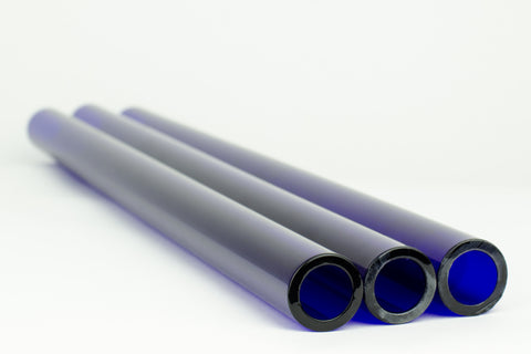 Chinese Brilliant Blue 25 x 4 MM Tubing
