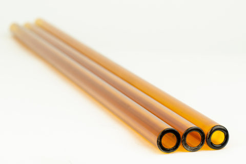 Chinese Autumn Amber 12 x 2.2 MM Tubing