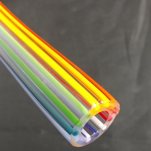 Rainbow 1 On 1 Clear Tubing