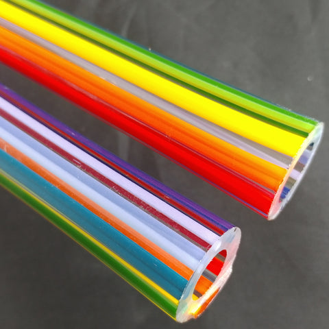 Rainbow 2 on 1 Clear Tubing