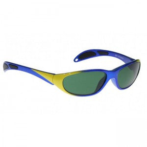 Model 208 (Blue/Yellow) Plastic Glassworking Safety Glasses, #GB-208-BY