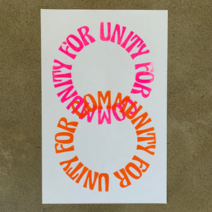 Unity For Community CRMC COVID-19 Relief Fund Riso Print