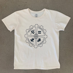 Hope T-shirt Vintage White