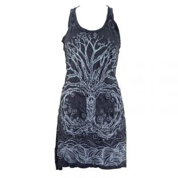 Green Tree of Life Tank Dress