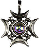 Crescents Rising Celestial Amulate Pendant | AG