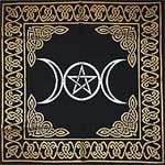 Triple Moon Pentagram Altar Cloth 24 X 24