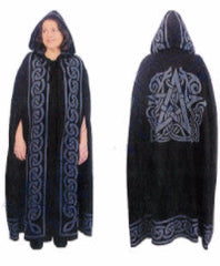 Black Pentacle Ritual Robe or Cloak