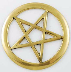 Brass Pentagram Altar Tile | AG