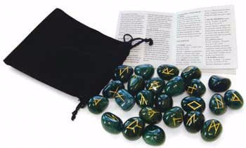 Bloodstone Rune Set by Lo Scarobeo
