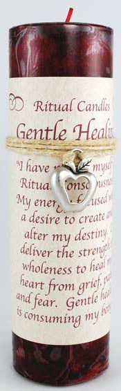 Gentle Healing Pillar Candle with Ritual Necklace | AG