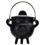 Black Cast Iron Triquetra Cauldron 2 3/4"