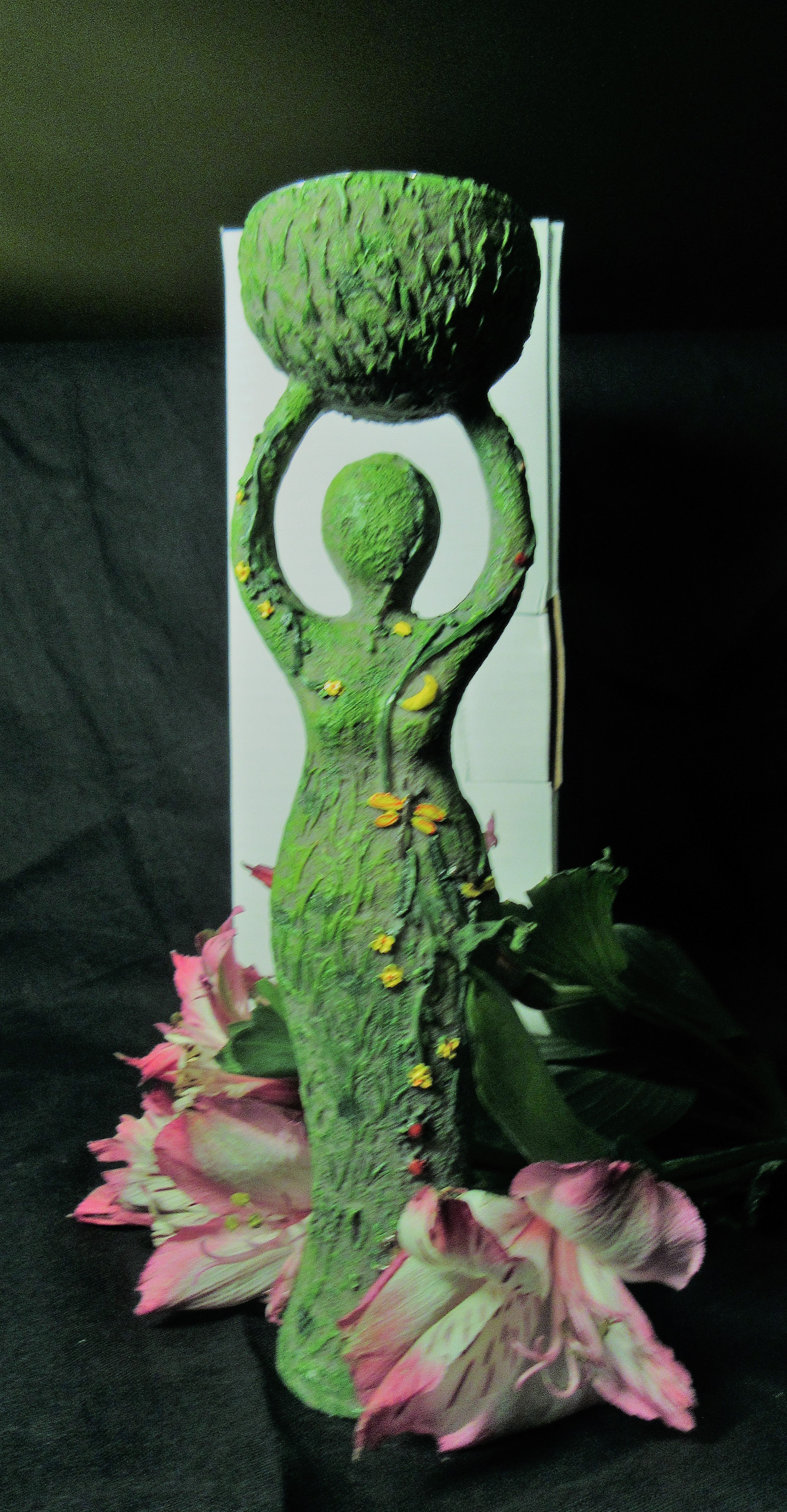 Nature Goddess Tealight Candle Holder