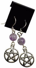 Amethyst Pentagram Earrings | Pagan Portal
