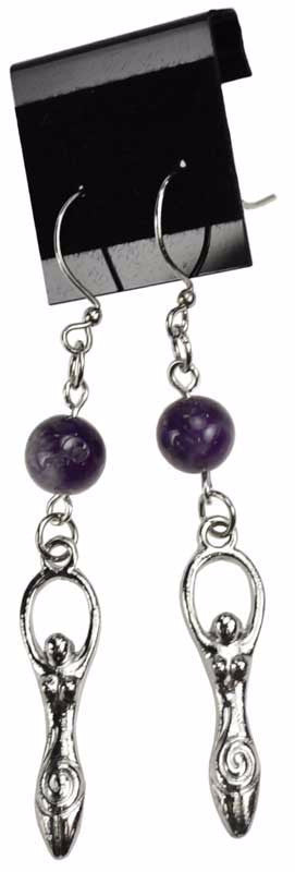 Amethyst Goddess Earrings | Pagan Portal