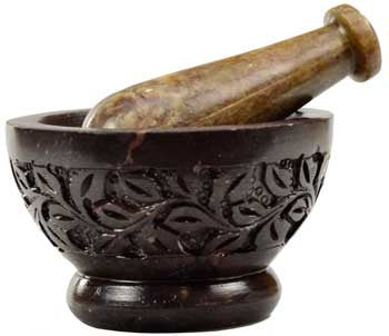 Flower Mortar & Pestle