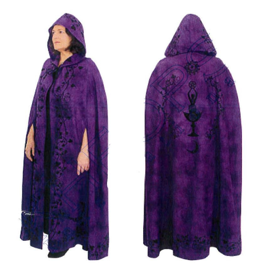 Purple Goddess Ritual Robe or Cloak