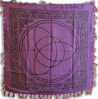 Purple Triquetera Altar Cloth*