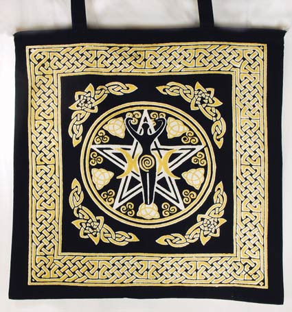 Pentagram Goddess Totebag