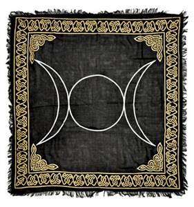 Triple Moon Altar Cloth 36 X 36