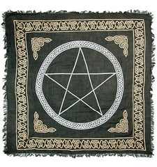 Gold Bordered Pentagram Altar Cloth 36 X 36 | AG