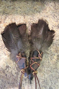Smudge Feather - Brown & Black w/leather Accent | Pagan Portal