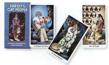 Cat People Tarot Deck  with Book by Karen Kuykendall