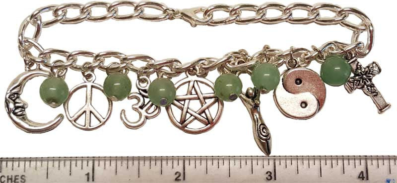 Green Adventurine Coexist Bracelet