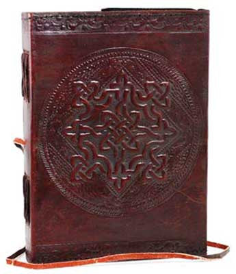 Celtic Knot Leather Journal w/ Cord