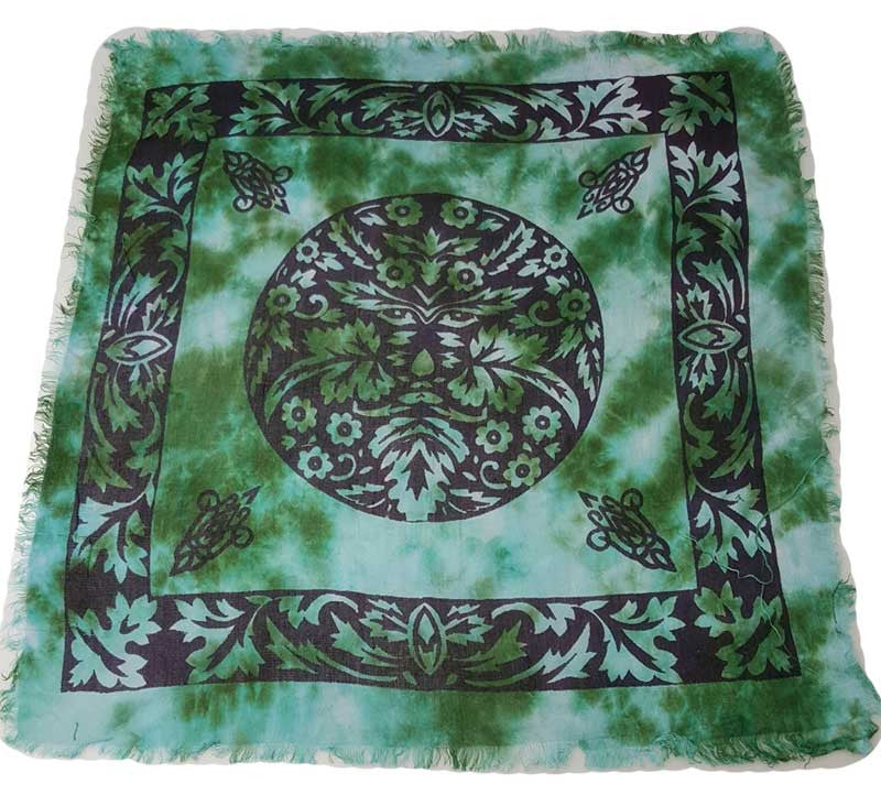 "Green Man Altar Cloth 18"" X 18"" 