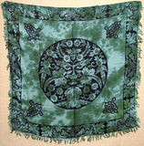 "Green Man Altar Cloth Altar Cloth 36"" x 36"" 