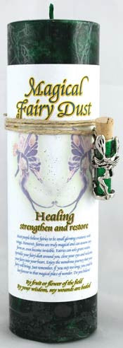 Healing Pillar Candle with Fairy Dust Necklace | AG