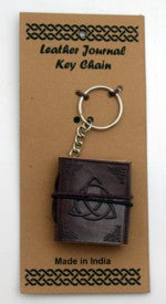 Triquetra Leather Journal Key Chain | Pagan Portal