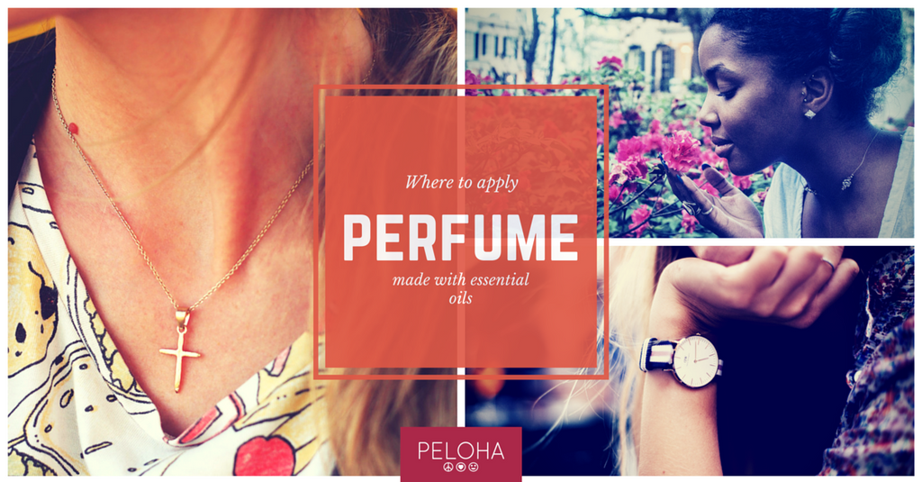 where to apply essential oil perfume