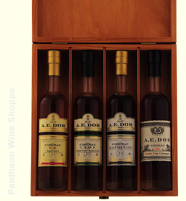 A. E. Dor 4 Bottle Cognac Sampler Set 200 ml X 4