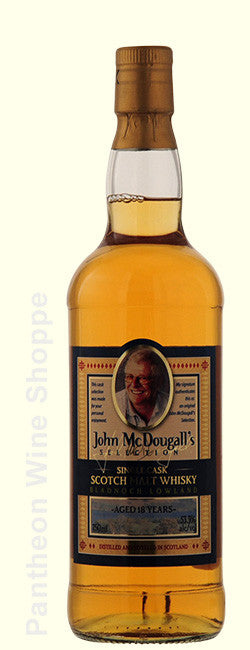 Non Vintage-John McDougall's Selection 18 Years Aged Bladnoch Lowland Single Cask Single Malt Scotch Whisky
