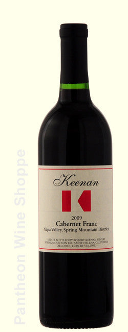 2009-Robert Keenan Winery Spring Mountain District Cabernet Franc