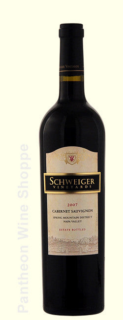 2007-Schweiger Vineyards Cabernet Sauvignon Spring Mountain District with Deluxe Velvet Bag