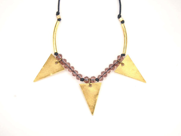Aura Gold Triangle Necklace