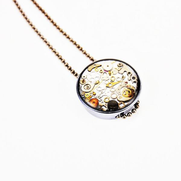 Watch gear necklace