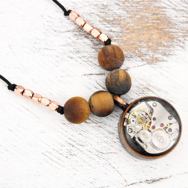 Zeya Rustic Copper Necklace