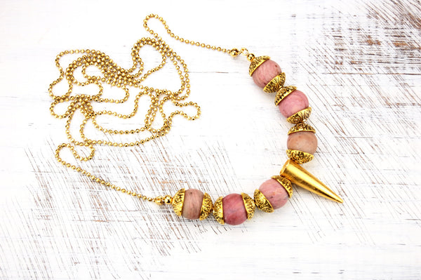Willow Gold Spike Necklace