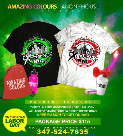The Experience Labor Day 2018 T-Shirt Package - $115